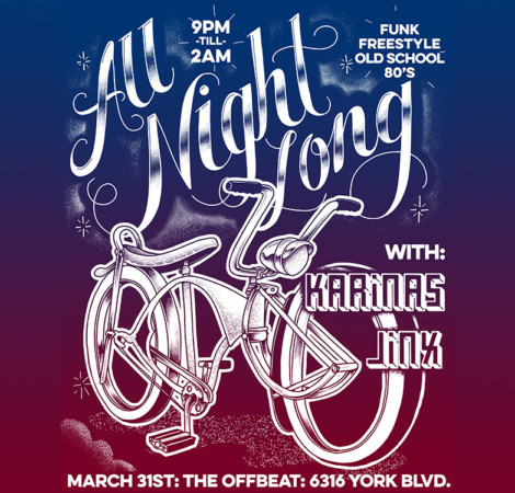 all night long, lowrider bike